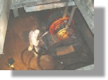 dry ice blasting used for cleaning electrical motor winding